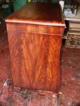Circa 1904 Mahogany Bedroom Set Restoration In Progress - Dresser Side