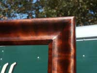 Circa 1904 Mahogany Bedroom Set Restoration - Mirror Frame Complete Closeup