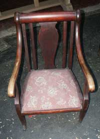 Victorian Chair Before Restoration