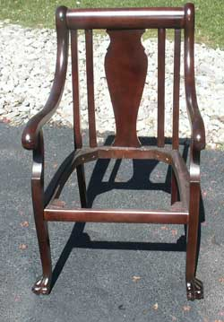 Victorian Chair and Setea Restoration - Chair Complete
