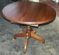 Walnut Drop Leaf Table Restoration Complete - Wings up