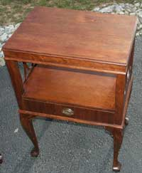 Victorian Mahogany Claw Foot End Table Restoration Complete Front 1