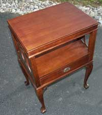 Victorian Mahogany Claw Foot End Table Restoration Complete Front Angle