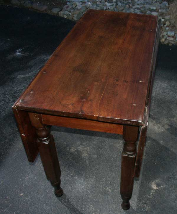 Walnut Drop Leaf Table   Restoration Complete End View ...