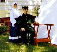 Stanley Saperstein and Cindy Saperstein in Authentic US SharpShooter and Period Clothing - Artisans of the Valley Museum Affiliations