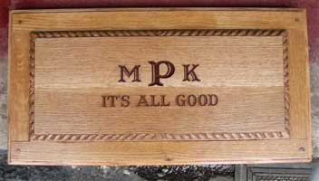 Solid Quarter Sawn White Oak Wedding Chest/Box - Lid View