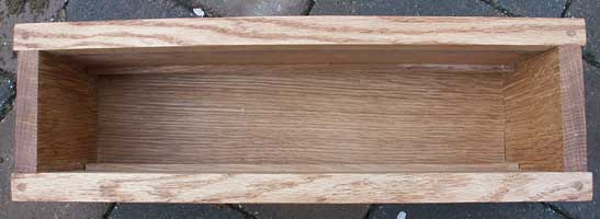 Hand Made Solid Oak Jewelry Box Tray Inserts Space in Box