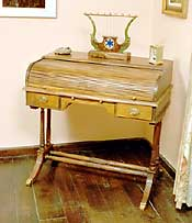 Artisans of the Valley Concise History of American Furniture - Early Duncan Phyfe Roll Top Desk (Tambadoor)