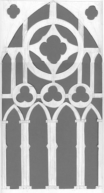 Gothic Tracery Pattern For Solid Oak Dining Table