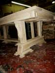 Artisans of the Valley - 2007 Gothic Table Project - Assembled Underside Less Panels