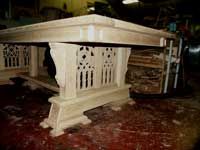 Artisans of the Valley - 2007 Gothic Table Project - Assembled Panels Dryfit Closer