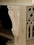 Artisans of the Valley - 2007 Gothic Table Project - Assembled Corbel Closeup