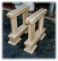 Artisans of the Valley - 2007 Gothic Table Project - Dry Fit Desk Legs Angle 1