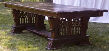 Hand Made Custom Solid Walnut New Wave Gothic Dining Table by Artisans of the Valley - Completed!