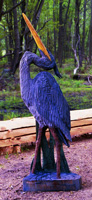 Artisans of the Valley feature Chainsaw Carving by Bob Eigenrauch - Blue Heron Looking Up