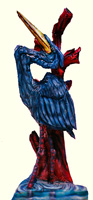 Artisans of the Valley feature Chainsaw Carving by Bob Eigenrauch - Blue Heron Closeup