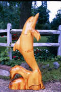 Artisans of the Valley feature Chainsaw Carving by Bob Eigenrauch - Stained Dolphin