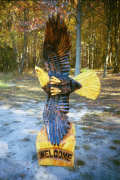 Artisans of the Valley feature Chainsaw Carving by Bob Eigenrauch - Spread Wing Eagle Welcome