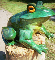 Artisans of the Valley feature Chainsaw Carving by Bob Eigenrauch - Frog