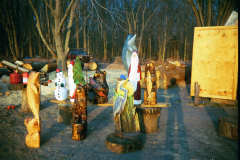Grouping of Chainsaw Carvings One