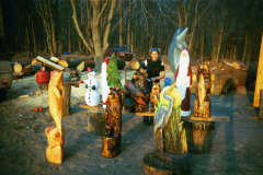 Grouping of Chainsaw Carvings Two