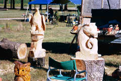 Bob Eigenrauch - Chainsaw Carvings in Progress