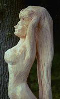 Artisans of the Valley feature Chainsaw Carving by Bob Eigenrauch - Side Profile Unfinished Mermaid