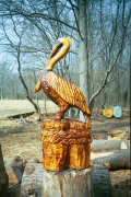 Artisans of the Valley feature Chainsaw Carving by Bob Eigenrauch - Pelican