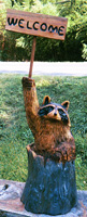 Artisans of the Valley feature Chainsaw Carving by Bob Eigenrauch - Racoon Wecome