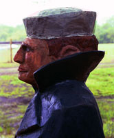 Artisans of the Valley feature Chainsaw Carving by Bob Eigenrauch - Mariner Profile Closeup Left