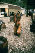 Artisans of the Valley feature Chainsaw Carving by Bob Eigenrauch - woodpecker