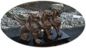 Custom CNC replicated hand detailed griffins