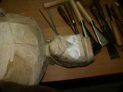 Hand Carved custom civil war solider - In Progress