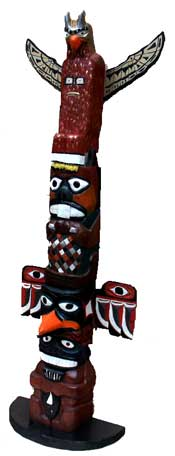 Hand carved custom totem pole -