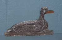 Hand carved duck applique
