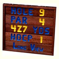 Golf Course Signs - Solid Mahogany CNC Routed Letters