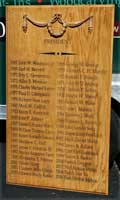 These custom panels were carved with the names of class presidents and valedictorians to commemorate their achievements.