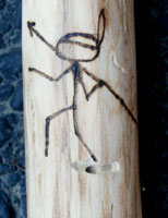 Custom Ted Nugent Walking Stick by Stanley Saperstein - Spear Chucker