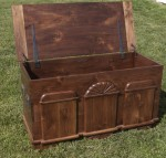 Solid American Black Walnut Block Front Chest