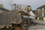Super Storm (Hurricane) Sandy - Damaged homes at the New Jersey Shore