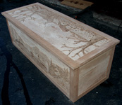 Artisans of the Valley Solid Cherry Hand Carved Safari Chest in Progress