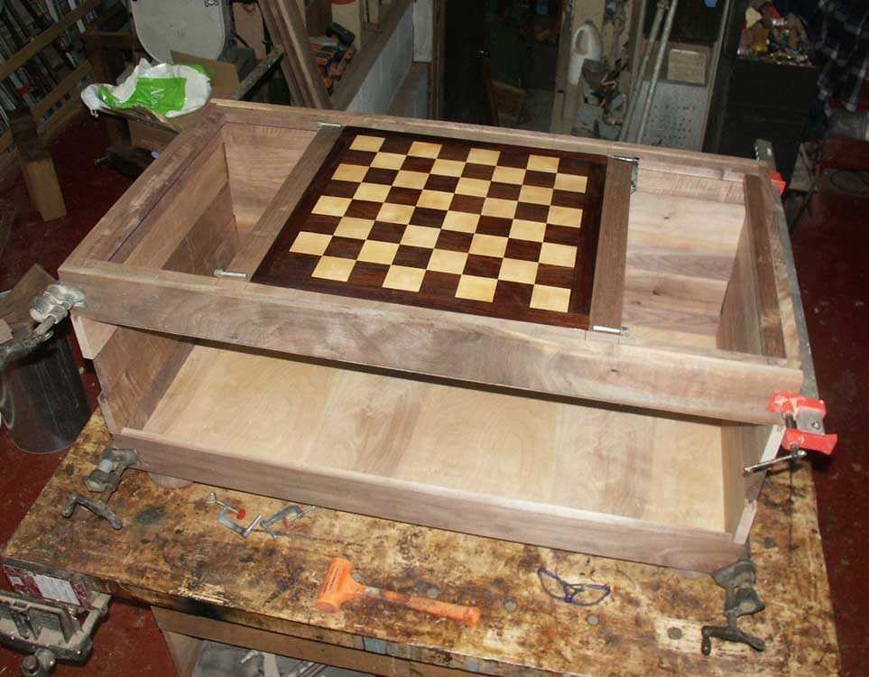 Chessboard Coffee Table In Progress Ruff Dryfit Case With Surface And