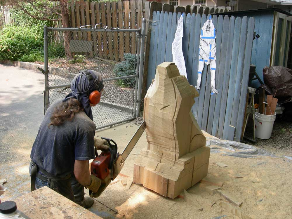 Artisans of the valley custom chainsaw carvings by bob eigenrach